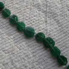 Coin Beads ~ Green Aventurine