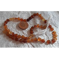 Hessonite coin Beads