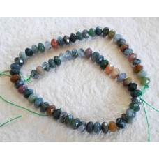 Indian Agate Faceted Abacus Beads