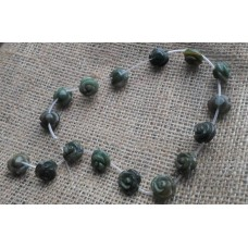 Indian Agate Rose Beads