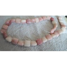Pink Opal Square Beads