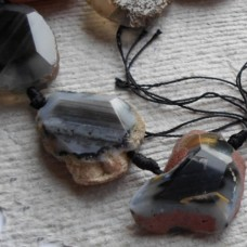 Crystal Slices ~ Black and White Agate