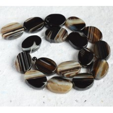Black Sardonyx Oval Beads