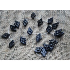 Blue Goldstone Flower Beads