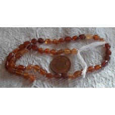 Hessonite Oval Beads