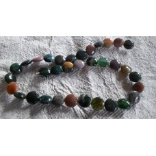 Indian Agate Coin Beads