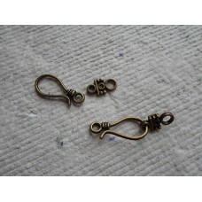 Antique Bronze ~ Hook Clasp