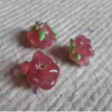 Glass bead ~ 10mm Rose, Rose Shaped