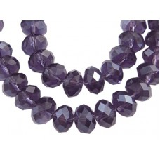 Glass Abacus Faceted ~ Indigo ~ Pack 20