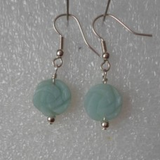Earrings ~ Chinese Amazonite Flowers